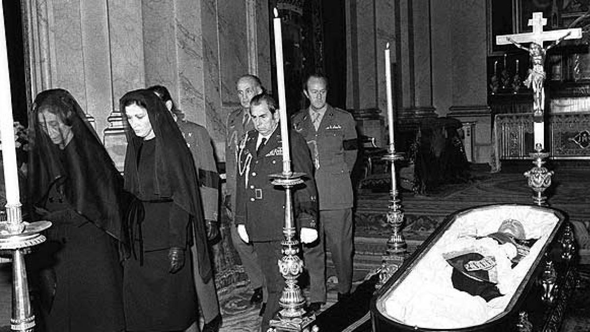 Así fue el entierro de Franco en el Valle de los Caídos