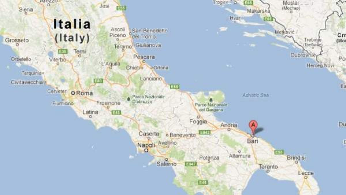Mapa De Bari Italia.Matan A Tiros A Tres Jovenes En La Ciudad Italiana De Bari