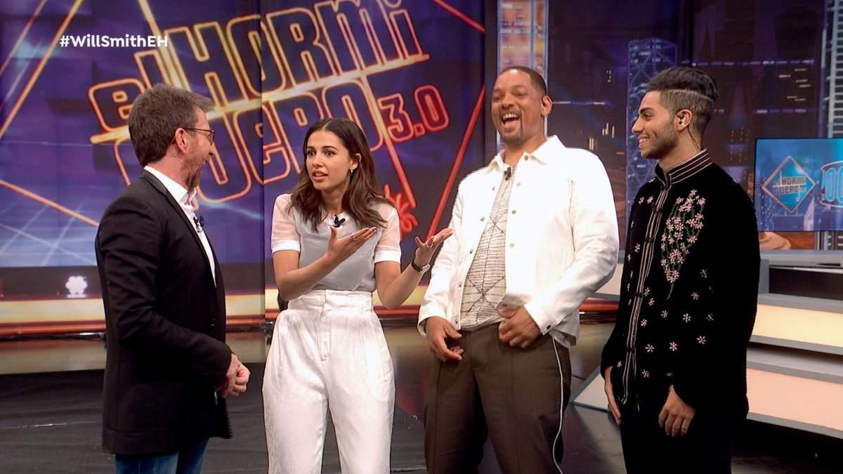 Naomi Scott Y Mena Massoud Alaban A Will Smith En El Hormiguero Es El Mejor Actor Del Mundo