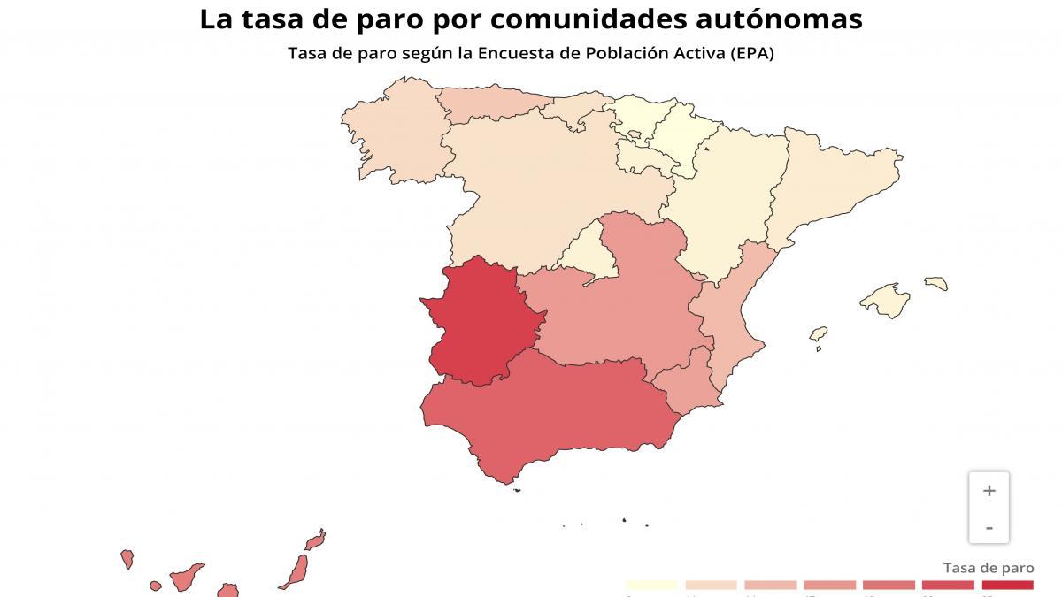 El Paro Baja En 2019 En Diez Comunidades Y Sólo Castilla La Mancha Y Extremadura Destruyen Empleo