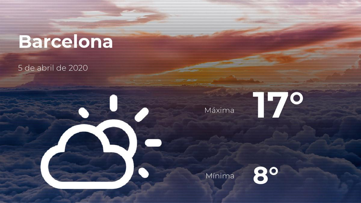 El Tiempo En Barcelona Prevision Para Hoy Domingo 5 De Abril De 2020