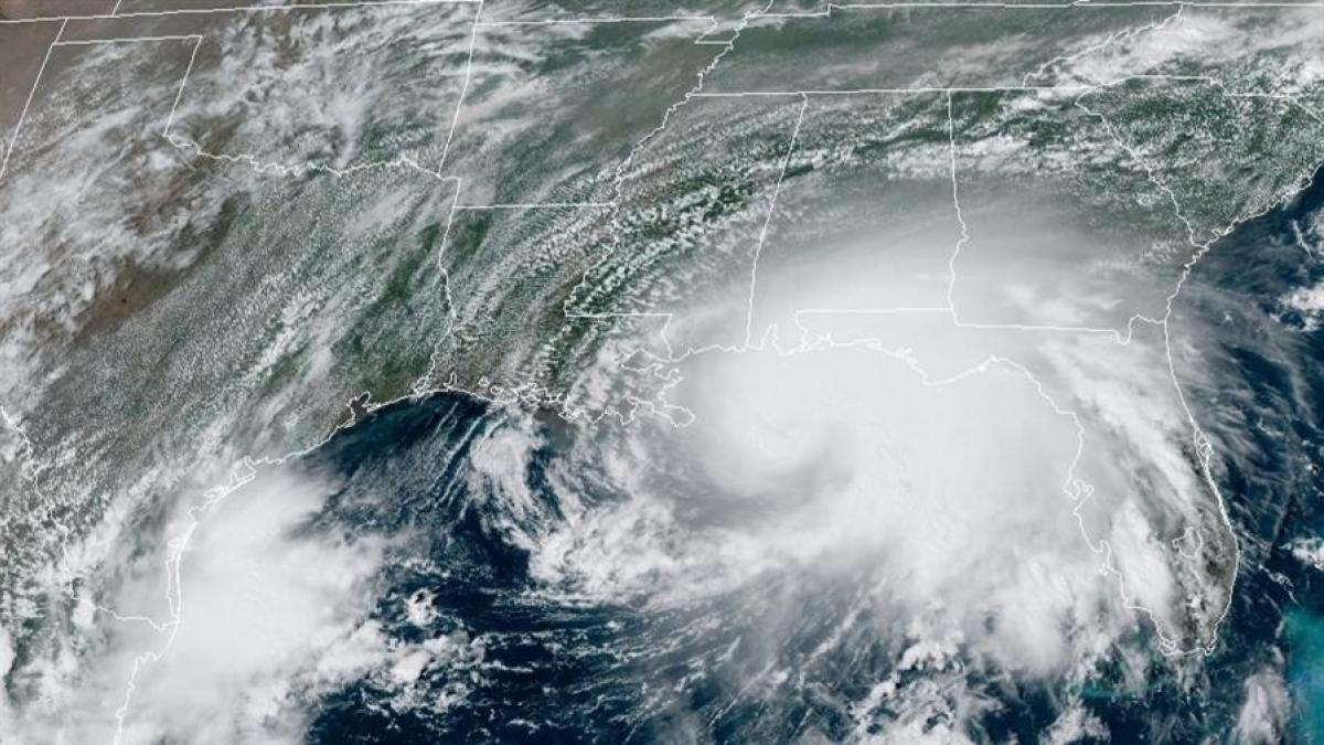 El huracán Sally legó a Gulf Shores, Alabama
