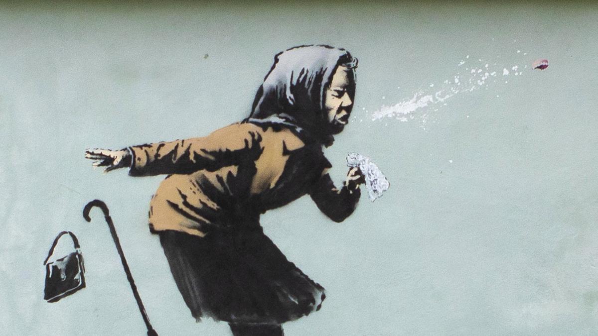 Banksy vuelve a reflejar la pandemia de la Covid en su última obra callejera