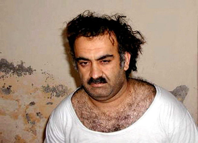 "<strong>""I was responsible for 9/11.""</strong> Al Qaeda member Khalid Sheikh Mohamed in a 2003 photo shortly after he was captured in Rawalpindi, Pakistan. <a href="