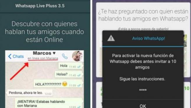 Captura de pantalla de la última estafa relacionada con la estafa 'Cómo espiar el Whatsaap de mis amigos'.