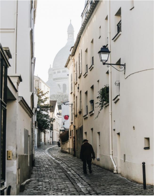 Barrio de Montmartre, Paris, Francia