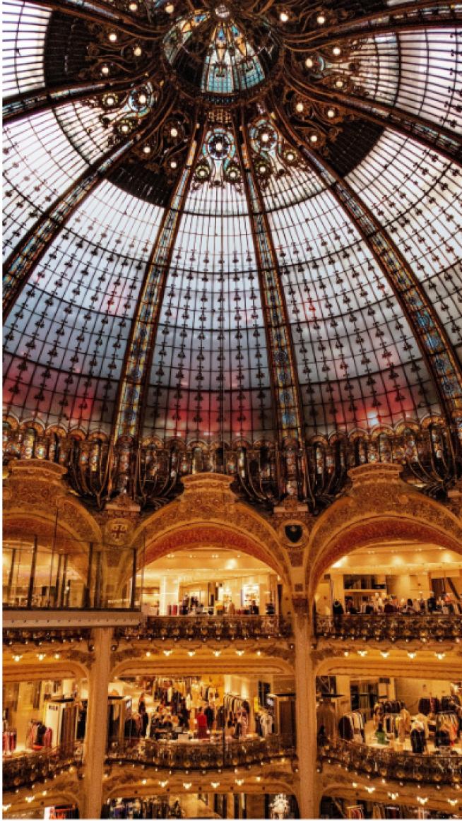 Galerías Lafayette, París, Francia