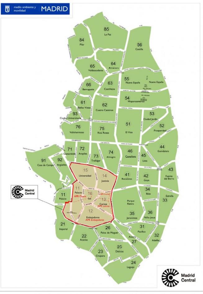 Zona Ser Madrid Mapa 2019.Mapa De La Zona Ser De Madrid Horarios Precios Y Zonas De
