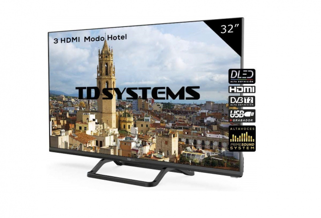 Televisor Led 32 Pulgadas HD, TD Systems K32DLX9H.