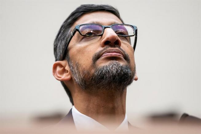 El consejero delegado de Google, Sundar Pichai, durante su comparecencia como testigo ante el Congreso de EE UU en diciembre de 2018.