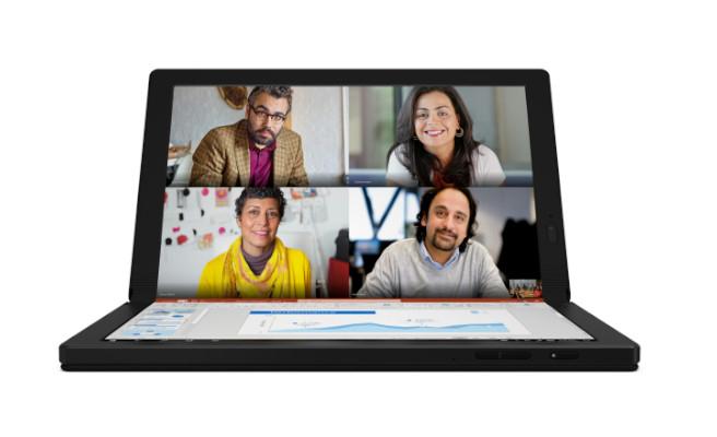 Una de las posibilidades que ofrece el ThinkPad X1 Fold