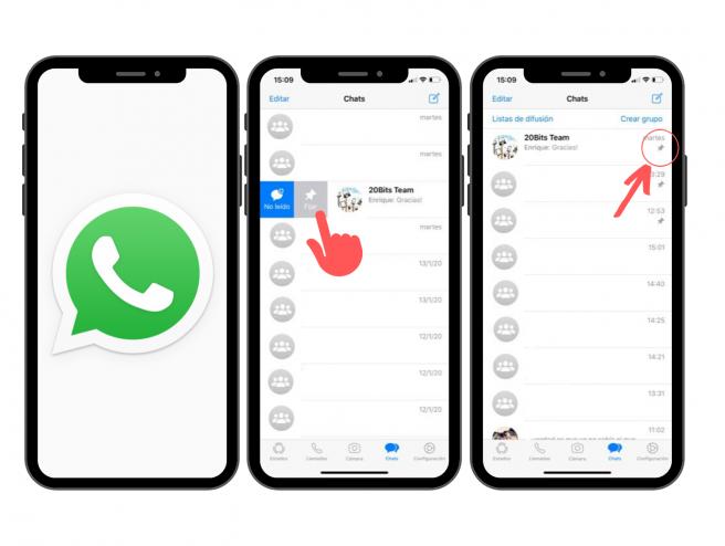 En dos pasos, puedes fijar arriba tus conversaciones de WhatsApp favoritas.