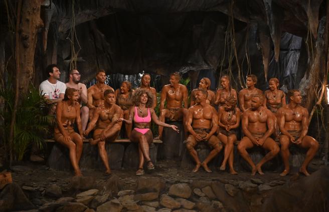 Los concursantes de 'Supervivientes 2020' en la Palapa.