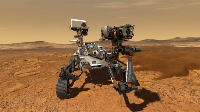 Ilustración artística de 'Perseverance', el próximo vehículo róver que enviará la NASA a Marte.
