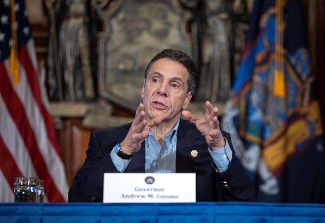 El gobernador del estado de Nueva York, Andrew Cuomo, durante una rueda de prensa sobre la crisis del coronavirus.