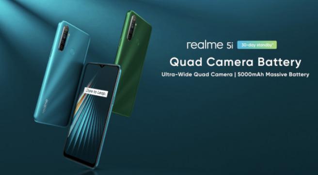 Imagen promocional del Realme 5i, otro gama media