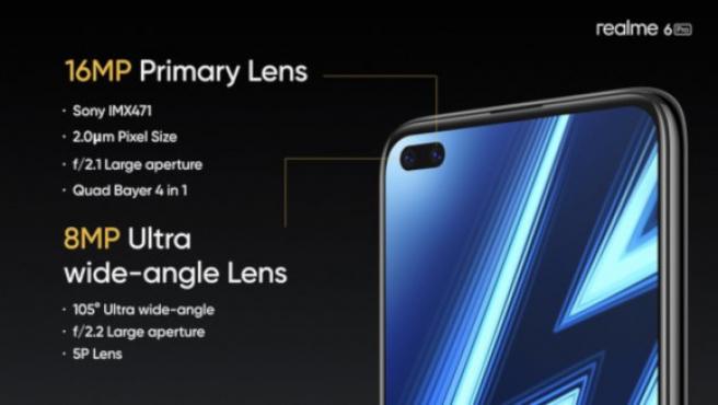 El Realme 6 Pro tiene dos cámaras en el frontal