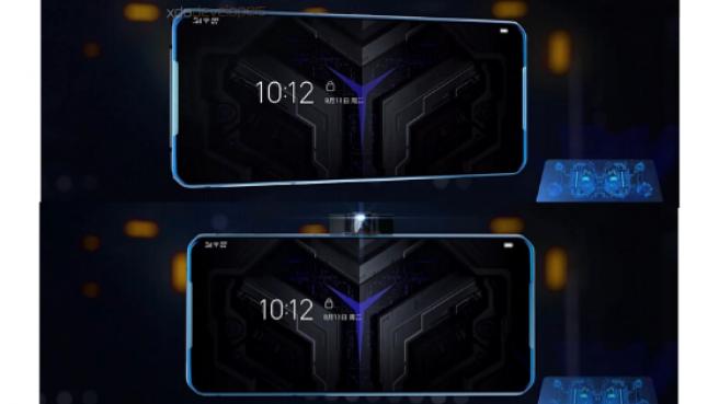 Dos imágenes del teléfono, con la cámara dentro y fuera.