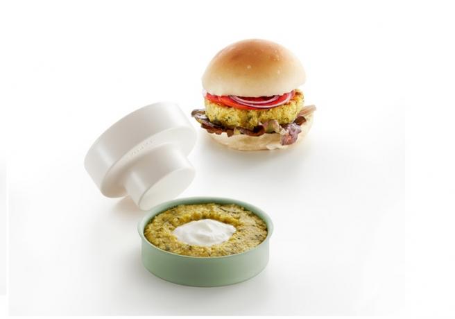 Con este utensilio podemos hacer hamburguesas de muchos ingredientes.