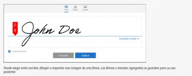 Icono de la firma Adobe