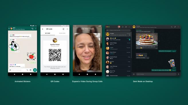 Las novedades de WhatsApp incluyen el modo oscuro para WhatsApp Web.