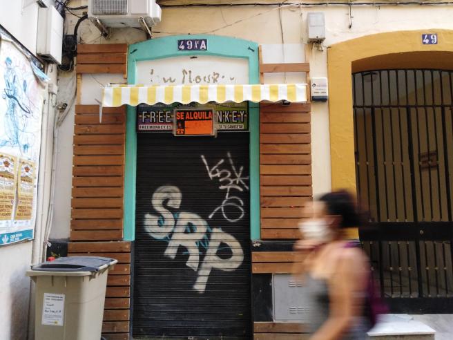 Otro de los comercios cerrados y en alquiler en San Eloy.