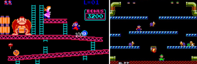 'Donkey Kong' (1981) y 'Mario Bros.' (1983).
