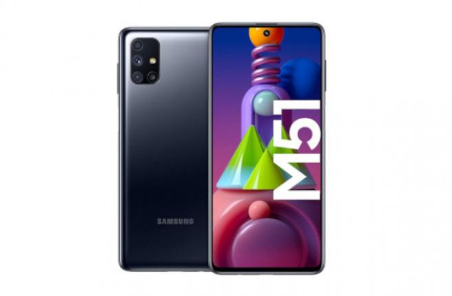 Trasera y frontal del Samsung Galaxy M51