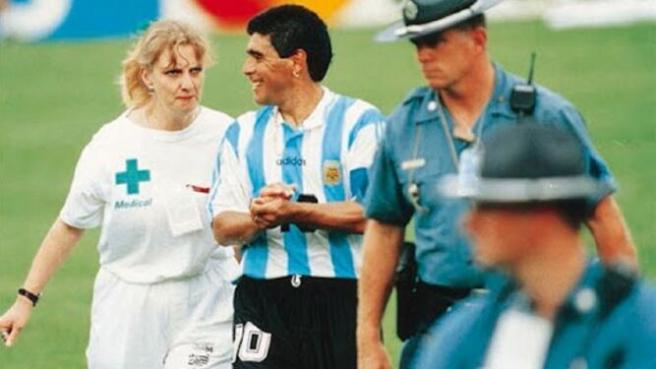 Maradona y Sue Carpenter