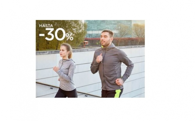 El Corte Inglés has a 30% discount on sportswear.