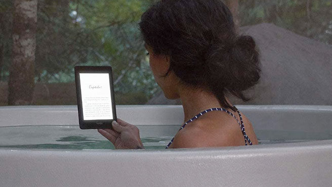 Both the Kindle Paperwhite and the Kindle Oasis are waterproof.