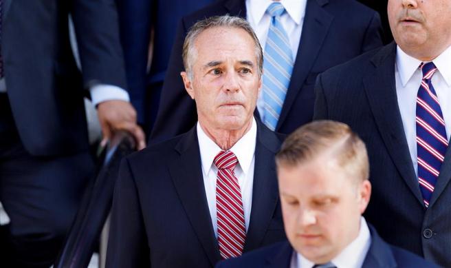 El excongresista Chris Collins, en el Tribunal Federal de EE UU en Nueva York, en 2019.