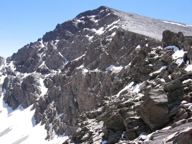 Cara norte del Mulhacén, en Sierra Nevada.