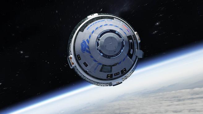 Así sería una nave Starliner viajando en el espacio exterior.