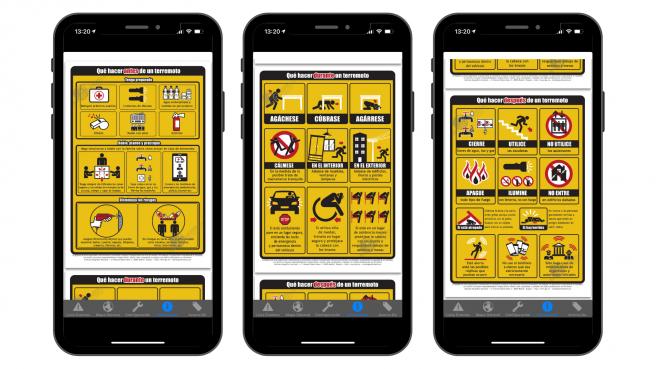 La plataforma cuenta con recomendaciones sobre qué hacer antes, durante y después de un terremoto.