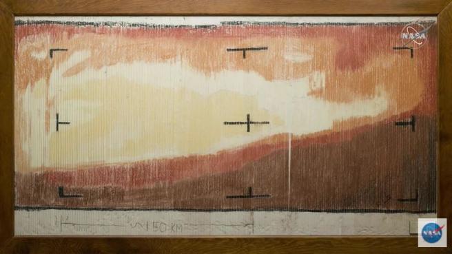 La imagen de Marte coloreada a mano.