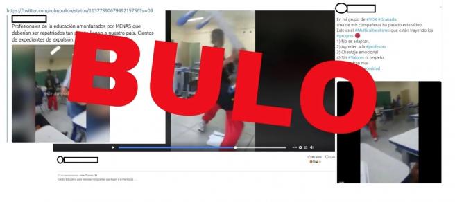 No, esta agresión de alumnos a su profesora no sucede en ningún lugar de España: es una escuela de Brasil