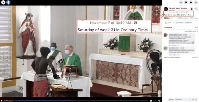 No, este vídeo de un hombre negro asaltando una iglesia y pegando a un cura no está grabado en Canarias: es una iglesia en Guyana