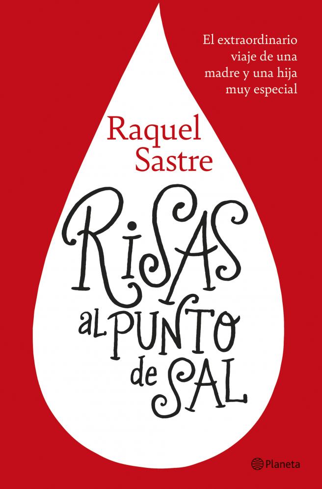 Cubierta del libro Risas al punto de sal, de Raquel Sastre