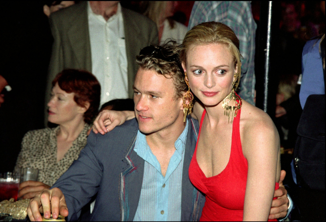 ACTRESS HEATHER GRAHAM AND ACTOR HEATH LEDGER IN THE PREMIERE OF THE MOVIE