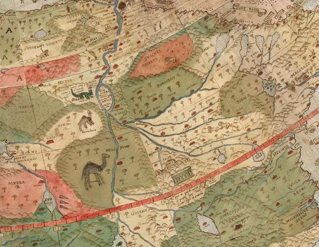 Detalle del mapa de Urbano Monte.