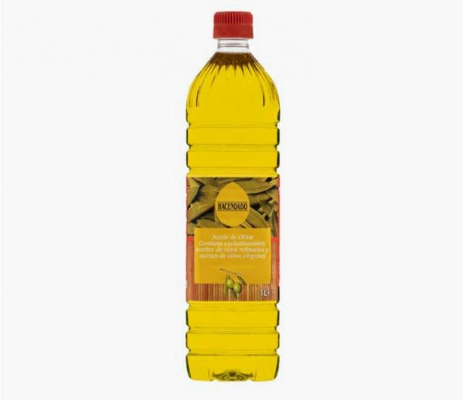 Aceite de oliva 0,4º de Hacendado, a la venta en Mercadona.