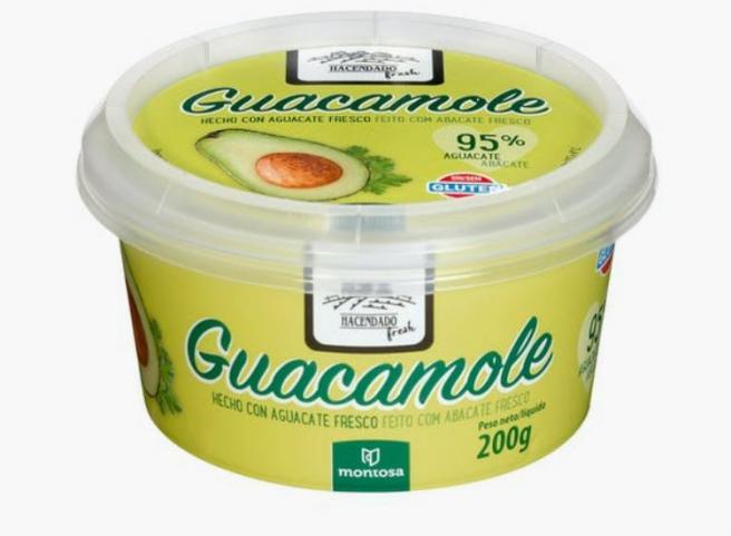 Tarro de guacamole Hacendado, a la venta en Mercadona.