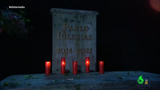 """La """"tumba política"""" de Pablo Iglesias, en """"El intermedio""""."""