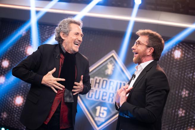 """Miguel Ríos, en """"El hormiguero""""."""