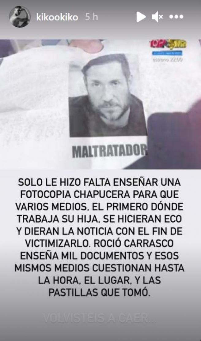 Historia de Kiko Jiménez sobre Antonio David.