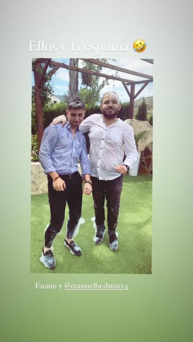 David Flores y Manuel Bedmar, en una imagen compartida por Rocío Flores.