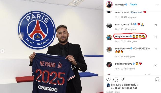'Amo' a Ramos a Neymar