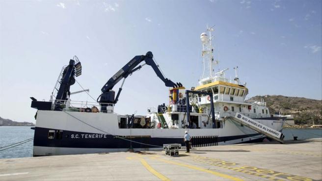 Imagen del barco Ángeles Alvariño se unirá a la búsqueda de chicas desaparecidas en Tenerife esta semana.