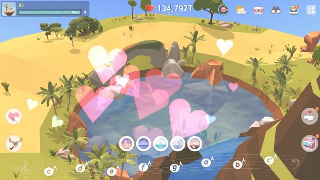 My Oasis es un juego centrado en la relajación con gráficos muy fáciles de usar.
